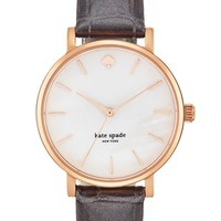 kate spade new york 'metro' embossed leather strap watch   Nordstrom