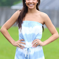Reflections Romper - Blue