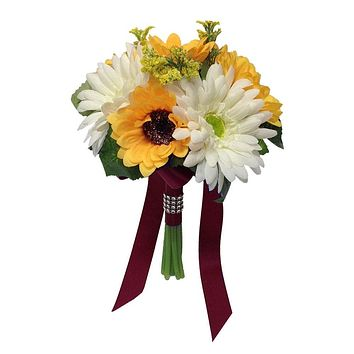 """7.5"""" Bouquet-Sunflowers and Daisy"""