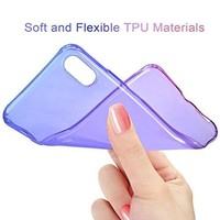 iPhone X Case Salawat Cute iPhone 10 Case Gadient Color Design Slim Lightweight Protective Cover for iPhone X 5.8 inch(Blue Purple)