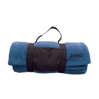 All Things Jeep - Jeep Embroidered Fleece Blanket w/ Carrying Strap, Blue