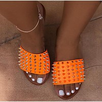 New style rivet sandals plus size slippers women shoes nail shoes