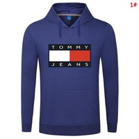 Tommy Autumn And Winter Fashion New Bust Letter Print Keep Warm Women Men Hooded Long Sleeve Sweater Top 1#
