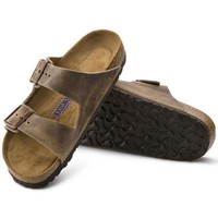 DCCK1 Birkenstock Arizona Soft Footbed Oiled Leather Tobacco Brown 0552811/0552813 Sandals