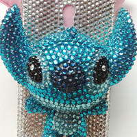Charms Lovely 3D Effect Stitch Crystal Rhinestones Bling Phone Case For Sprint Samsung Galaxy S 2 II Epic Touch 4G D710