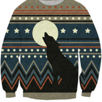 Wolf Howl Sweater