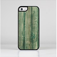 The Green Tinted Wood Planks Skin-Sert Case for the Apple iPhone 5c