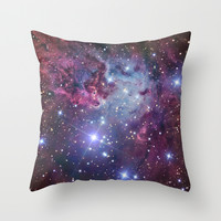 Nebula Galaxy Throw Pillow by RexLambo
