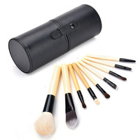 9pcs Eyeshadow Makeup Brush Set Cosmetic Brushes Kit + Cup Holder Case  7_S = 1916281156