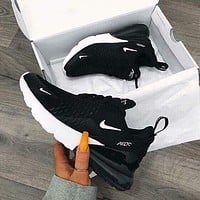Nike Air Max 270 Black/White Men's and Women's Sneakers Shoes