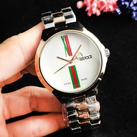GUCCI New fashion dial letter stripe couple watch wristwatch