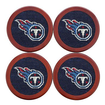 Tennessee Titans Needlepoint Coasters by Smathers & Branson