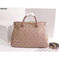 LV 2019 new high quality women's handbag shoulder bag Messenger bag apricot