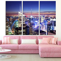 New York City Manhattan Skyline wall art, large manhattan art canvas print, Manhattan wall art, new york canvas art print t291