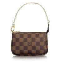 Louis Vuitton Damier Canvas Mini Pochette Accessoires N58009 Made in France