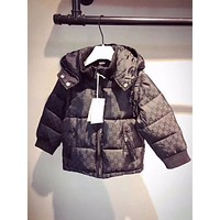 2018 children winter down jacket boy and girl down vest hoodies with detachable sleeves for kids outwear clothes available