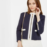 Bow detail cropped jacket - Dark Blue   Suits   Ted Baker