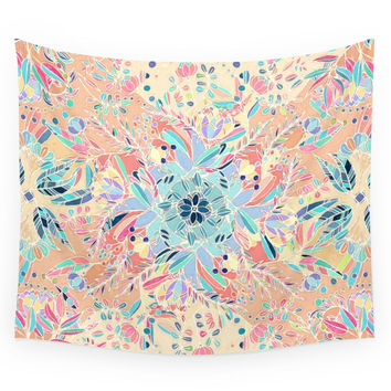 Society6 Paradise Doodle Wall Tapestry