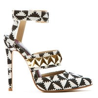 CHECKMATE STUDDED HEEL