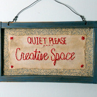 """$19.50 wooden sign """"Quiet Please"""" by RHYMEABILLY"""
