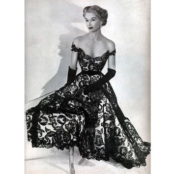Custom Off-shoulder Satin & Lace Gorgeous 1950s Reproduction Dress... Available in White Lace too... Made to your measurements...
