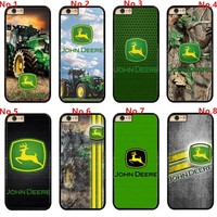 John Deere Logo Hard Phone Case Cover Fits For Touch / iPhone / Samsung / LG