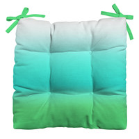 Natalie Baca Aquamarine Ombre Outdoor Seat Cushion