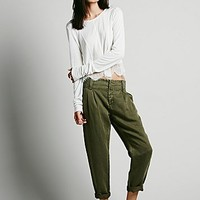 Free People Womens Relaxed Washed Pant