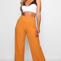 Plus Tailored Wide Leg Trouser | Boohoo