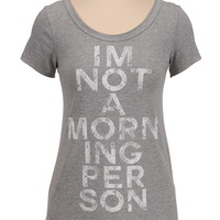 I'm not a morning person graphic print tee