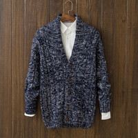 Casual Mens Comfortable Winter Warm Slim Fit V Neck Cardigan Sweater