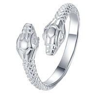 Adjustable Cool Snake 925 Jewelry Silver Plated Ring Fashion Jewelry Ring for Women