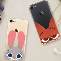 Fox and Rabbit Case Cover for iPhone 7 7 Plus & iPhone se 5s 6 6s Plus +Gift Box