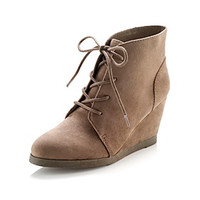 """Madden Girl """"Domain"""" Lace-up Wedge Boots at www.carsons.com"""