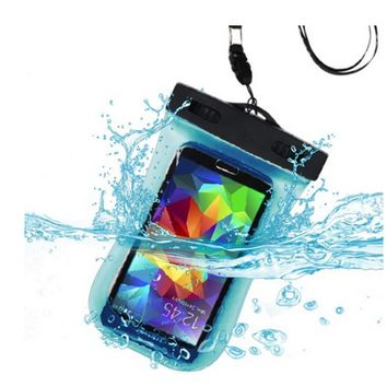 SimplyASP Tech Blue Waterproof Bag with Lanyard and Armband (for ALL Phones)