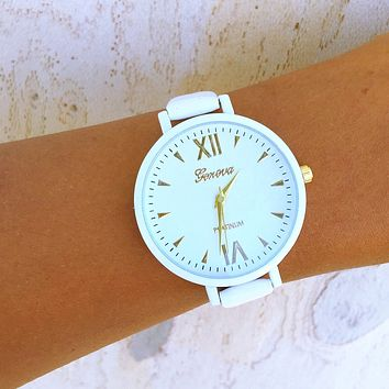 Vegan Leather Geneva Watch