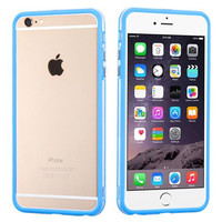 Apple iPhone 6 Plus 6S Plus (5.5) Baby Blue/Transparent Clear MyBumper Phone Case Cover