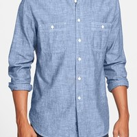 Men's Grayers Trim Fit Selvedge Chambray Sport Shirt,