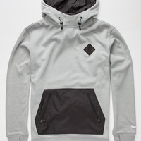 Burton Hemlock Bonded Mens Pullover Hoodie Monument Heather  In Sizes