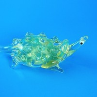 12632 Long neck Turtle with big eyes 70% off - Animal Glass Pipes
