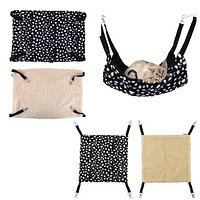 Polka Dot Polyester Cat Cage Hammock Small Pet Bed Cover Bag Blankets Mascotas Cachorro Honden