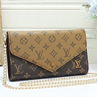 LV Louis Vuitton Women Fashion Chain Crossbody Satchel