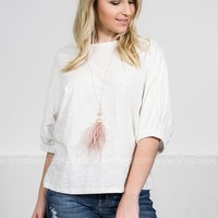 Blanca White Cotton Top