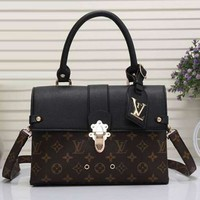 Perfect Louis Vuitton Women Fashion Leather Shoulder Bag Satchel Crossbody