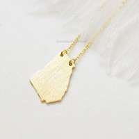 Georgia state Necklace in Gold, GA state gold necklace, Atlanta necklace