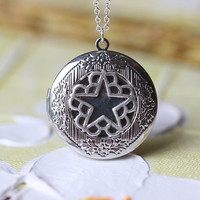 silver Black Veil Brides locket necklace steampunk gift  Christmas gifts L6