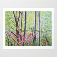 Pink Blossoms Art Print by Liveart4evr
