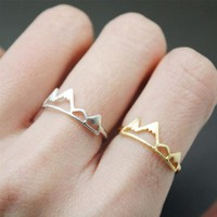 Jisensp New Fashion Adjustable Ring Open Mountain Rings for Women Birthday Gift Charm Jewelry Finger Rings Anillos Bague