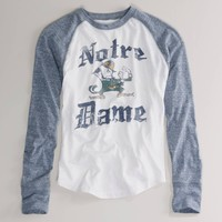 Notre Dame Vintage Raglan T   American Eagle Outfitters