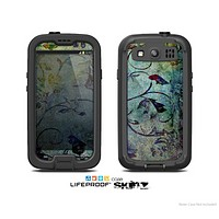 The Grungy Dark Black Branch Pattern Skin For The Samsung Galaxy S3 LifeProof Case